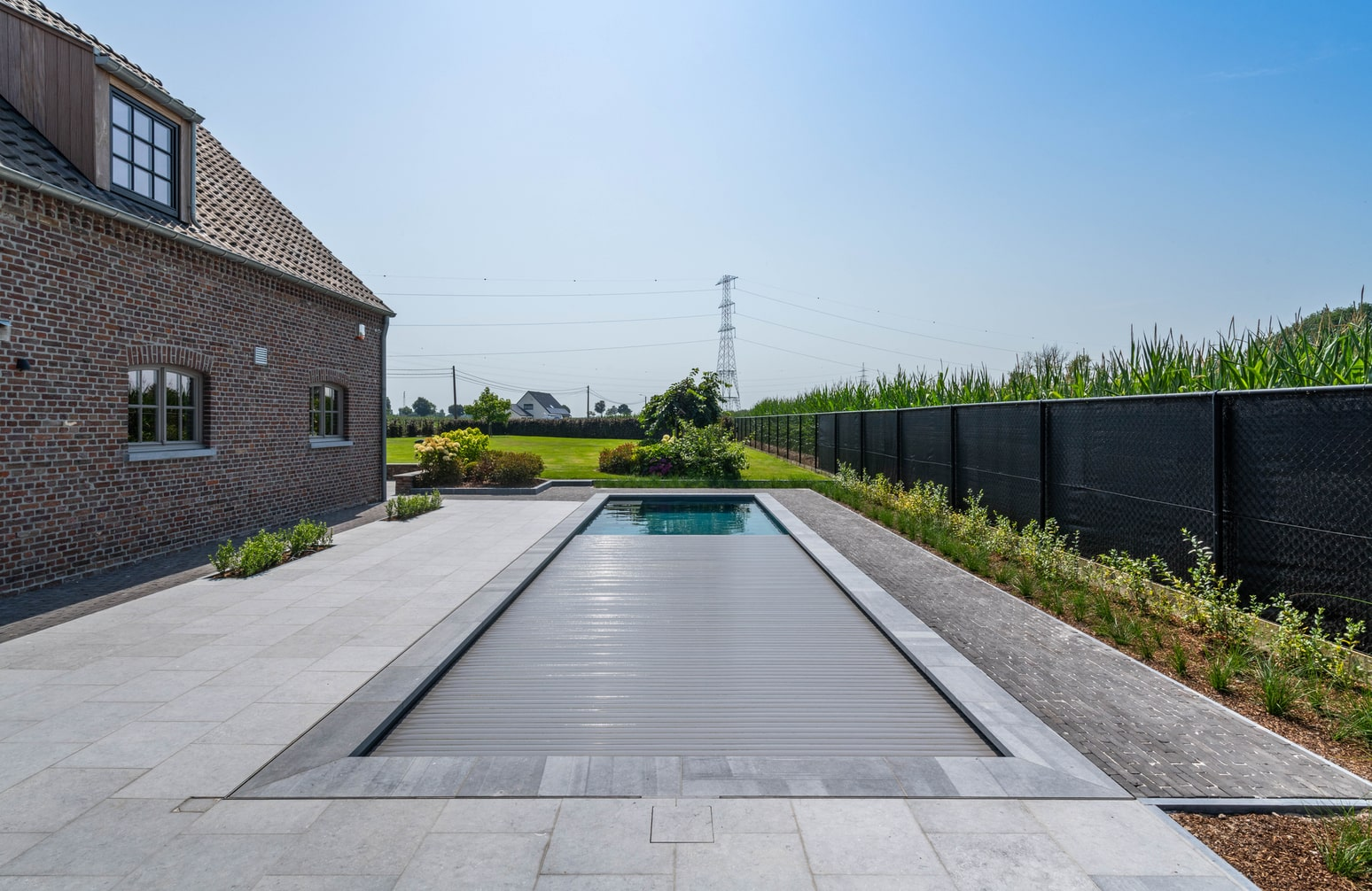 Realisatie polypropyleen zwembad te Bocholt - afmetingen 12m op 3m60