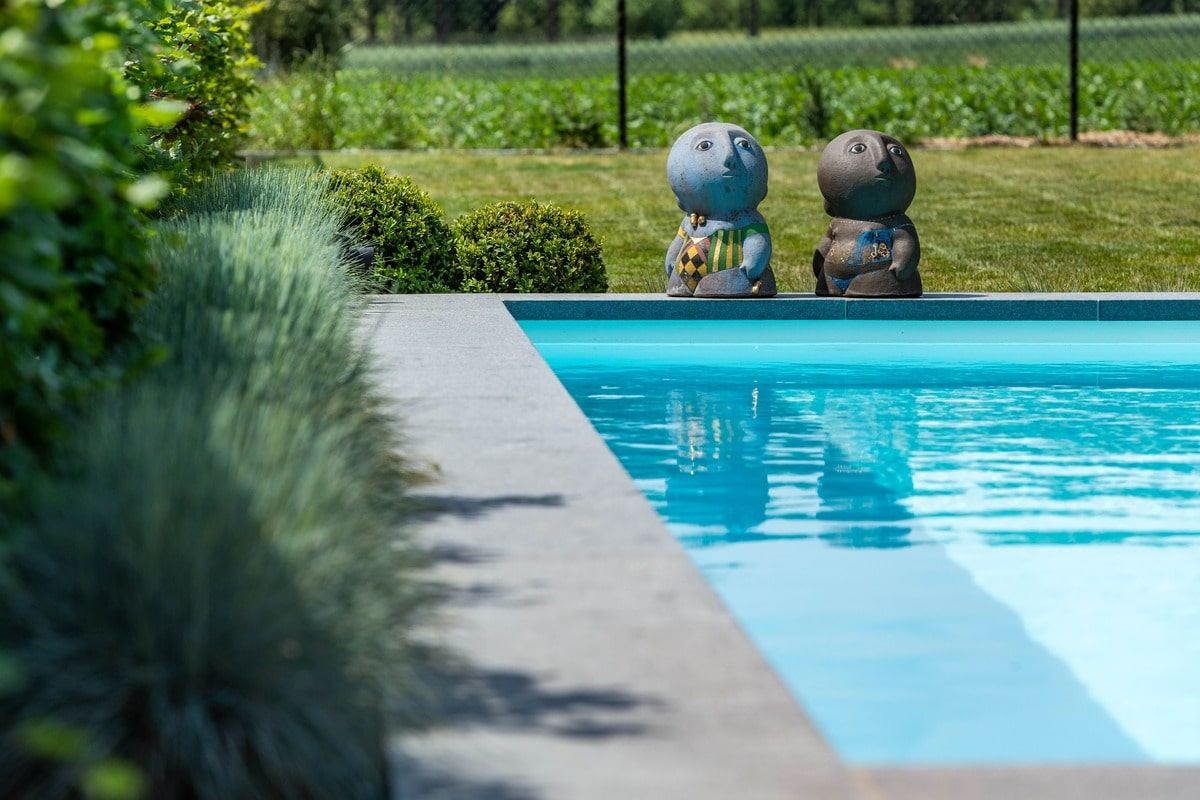 Realisatie zwembadaanleg te Tongeren. Afmetingen 3m50 op 8m95